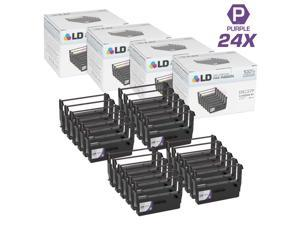 LD © Compatible Epson ERC-37 Set of 24 Purple Printer Ribbons