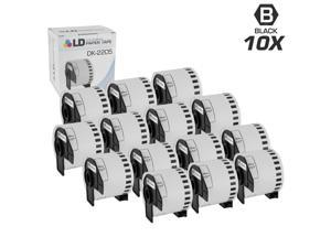 LD © Compatible Brother DK-2205 10 Rolls of White Label Tape / 2.4 in x 100 ft