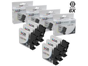 LD © Compatible Brother LC-61 Set of 6 LC61BK Black Inkjet Cartridges