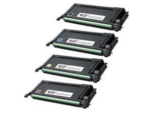 LD Compatible Samsung CLP-660 Set of 4 High Capacity Laser Toners 1: Black CLP-K660B, Cyan CLP-C660B, Magenta CLP-M660B, ...