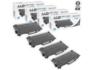 LD © Compatible Brother TN850 Set of 4 High Yield Black Toner Cartridges for Brother DCP, HL, and MFC Multifunction Printers