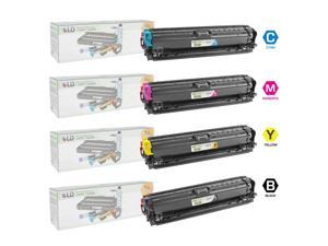 LD © Remanufactured Replacement Laser Toner Cartridges for HP Color LaserJet CP5225: 1 Black CE740A, 1 Cyan CE741A, 1 Magenta ...