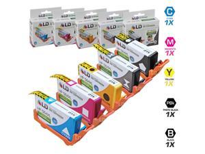 LD &cpoy&#59; Remanufactured Replacements for HP 564XL 5PK High Yield Inkjet Cartridges: 1 CN684WN Black, 1 CB322WN Photo Black,  1 CB323WN Cyan, 1 CB324WN Magenta, & 1 CB325WN Yellow