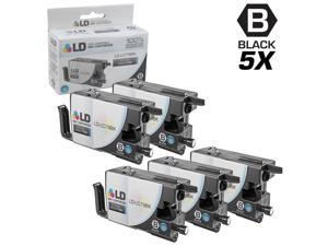 LD © Compatible Replacements for Brother LC79BK Set of 5 Black Extra High Yield Inkjet Cartridges for use in Brother MFC J5910DW, J6510DW, J6710DW, and J6910DW Printers