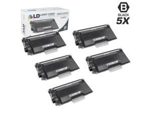 LD © Compatible Brother TN880 Super HY Pack of 5 Black Cartridges for HL-L6200DW, HL-L6200DWT, HL-L6250DW, HL-L6300DW, HL-L6400DW, HL-L6400DWT, MFC-L6700DW, MFC-L6750DW, MFC-L6800DW, MFC-L6900DW