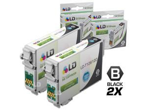 LD © Remanufactured Epson T126120 Set of 2 High Capacity Black Ink Cartridges