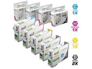 LD Remanufactured Replacements for Epson T098/T099 Set of 5 High Yield Ink Cartridges Includes: 2 Black T098120, 1 Cyan T099220, ...