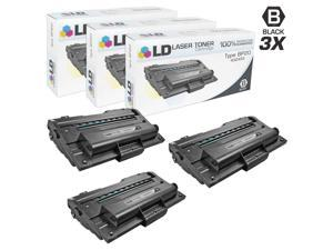 LD © Compatible Ricoh 402455 Set of 3 Black Laser Toner Cartridges for Aficio BP20, & BP20N Printers