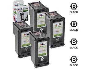LD © Remanufactured Replacement Ink Cartridges for Hewlett Packard C8767WN (HP 96) High-Yield Black (4 Pack)