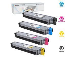 LD © Compatible Okidata C830dn / C830dtn / C830n Set of 4 Toner Cartridges: 1 Black 44059112, 1 Cyan 44059111, 1 Magenta ...