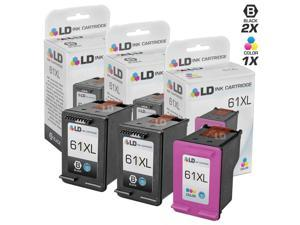 LD © Remanufactured Replacements for Hewlett Packard HP 61XL / 61 3PK High Yield Ink Cartridges Includes: 2 CH563WN Black, ...