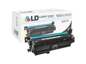 LD Remanufactured Replacement Laser Toner Cartridge for HP CE260A (647A) Black for the HP Color LaserJet Enterprise CP4525xh, ...
