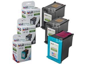 LD © Remanufactured Replacement Ink Cartridges for Hewlett Packard (HP) C8765WN (HP 94) Black and C8766WN (HP 95) Color (2 ...