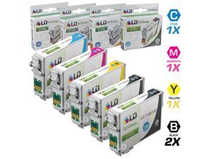 LD © Epson Remanufactured T126 Set of 5 High Capacity Ink Cartridges: 2 Black (T1261), 1 Cyan (T1262), 1 Magenta (T1263),1 ...