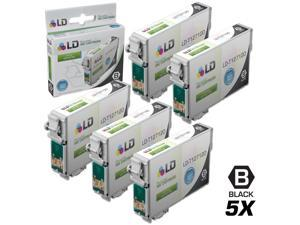 LD Epson Remanufactured T127 Set of 5 Extra HY Ink Cartridges: 5 Black T127120 for Stylus NX530, NX625, WorkForce 3520, 3530, ...