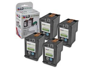 LD © Remanufactured Replacement Ink Cartridges for Hewlett Packard CC641WN HP 60XL / 60 High-Yield Black (4 pack)