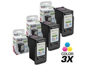 LD © Remanufactured for Canon CL-241XL / 5208B001 Set of 3 High Yield Color Inkjet Cartridges for use in Canon PIXMA Series