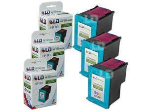LD © Remanufactured Replacement Ink Cartridges for Hewlett Packard C9361WN (HP 93) Tri-Color (3 Pack)
