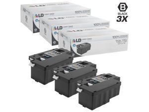 LD © Compatible Dell 331-0778 Set of 3 Black Laser Toner Cartridges for use in the Color Laser C1760nw, C1765nf, C1765nfw, ...