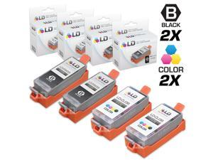 LD © Compatible Canon PGI35 and CLI36 Set of 4 Ink Cartridges: Includes 2 Black and 2 Color Cartridge for use in the Canon ...
