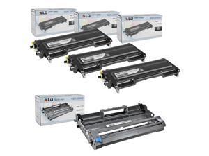 LD © Brother Compatible TN350 & DR350 Combo Pack Toner Cartridge & Drum unit Includes: 3 Black TN350, 1 Drum Unit DR350