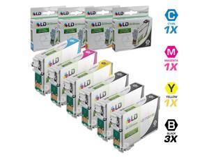 LD © Epson Remanufactured T125 Set of 6 Standard Yield Ink Cartridges: 3 Black (T1251) & Cyan (T1252), Magenta (T1253), Yellow ...