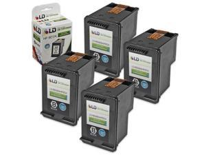 LD © Remanufactured Replacement Ink Cartridges for HP CC654AN HP 901XL / 901 HY Black (4 Pack) for the OfficeJet J4540, J4580, ...