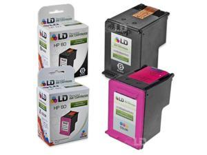 LD © Remanufactured Ink Cartridge Replacements for HP CC640WN (HP 60) Black and HP CC643WN (HP 60) Color (1 Black and 1 Color)