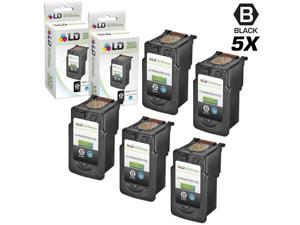 LD © Canon Remanufactured PG210XL / PGI210 Set of 5 High Yield Ink Cartridges: Includes 5 Black PG-210XL