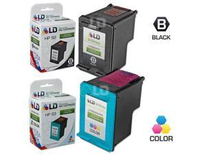 LD © Remanufactured Replacement Ink Cartridges for Hewlett Packard (HP) C9362WN (HP 92) Black and C9361WN (HP 93) Color (1 ...