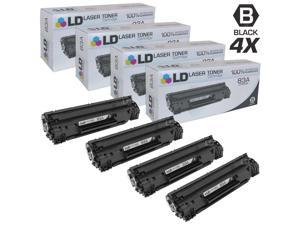 LD © Compatible Replacement Laser Toner Cartridges for Hewlett Packard CF283A (HP 83A) Black (4 Pack) for use in HP LaserJet ...