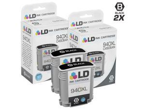 LD© Remanufactured Replacement Ink Cartridge Set of 2 for HP 940XL / 940: Includes 2 Black C4906AN for use in HP OfficeJet ...