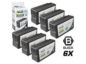LD © Remanufactured Replacement for Hewlett Packard HP 950XL / 950 Ink Cartridges Set of 6 Black CN045AN for use in OfficeJet ...