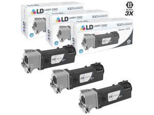 LD © Compatible Dell KU052 (310-9058) Set of 3 High Yield Black Toner Cartridges for 1320/1320C Printers