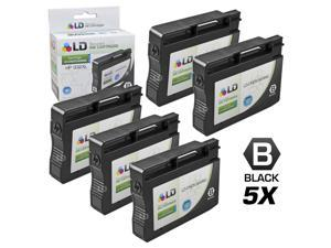 LD © Remanufactured Replacements for Hewlett Packard CN053AN HP 932XL / 932 Set of 5 Black Inkjet Cartridges for use in OfficeJet ...