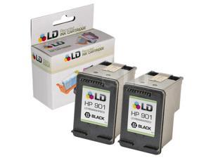 LD © Remanufactured Replacement Ink Cartridge for Hewlett Packard CC653AN (HP 901) Black (2 Pack)