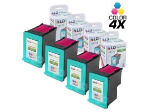 LD © Remanufactured Replacement Ink Cartridge for Hewlett Packard CB337WN (HP 75) Tri-Color (4 Pack)