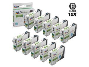 LD © Remanufactured Epson T126120 Set of 10 High Capacity Black Ink Cartridges