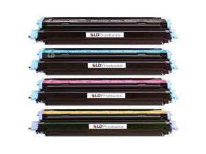 LD © Remanufactured Replacement Laser Toner Cartridges for HP Color LaserJet 1600/2600: 1 Black Q6000A, 1 Cyan Q6001A, 1 ...