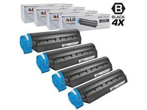 LD © Set of 4 Okidata Compatible 44574701 Black Laser Toner Cartridge for the MB461 MFP, MB471, MB471W, B411d, B411dn, B431d ...