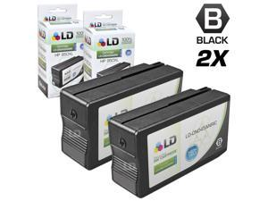 LD © Remanufactured Replacement for Hewlett Packard HP 950XL / 950 Ink Cartridges Set of 2 Black CN045AN for use in OfficeJet ...