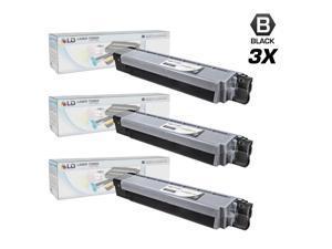 LD © Compatible Okidata 44059112 (Type C14) Set of 3 Black Laser Toner Cartridges for use in Okidata C830dn, C830dtn, & C830n ...