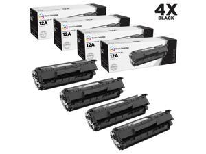 LD Remanufactured Replacement Laser Toner Cartridges for HP Q2612A (12A) Black (4 Pack) for the LaserJet M1319, 1319f, 1010, ...