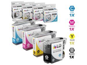 LD © Brother Compatible LC107 / LC105 Set of 4 Ink Cartridges: 1 each of Black / Cyan / Magenta / Yellow for use in MFC-J4310DW, ...