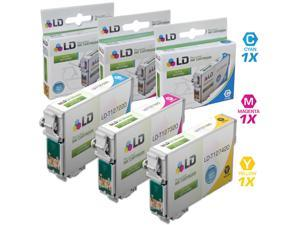 LD© Epson Remanufactured T127 Set of 3 Extra High Capacity Ink Cartridges: Includes 1 Cyan (T127220), 1 Magenta (T127320), ...