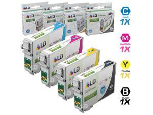 LD © Epson Remanufactured T126 Set of 4 High Capacity Ink Cartridges: 1 Black (T1261), 1 Cyan (T1262), 1 Magenta (T1263),1 ...
