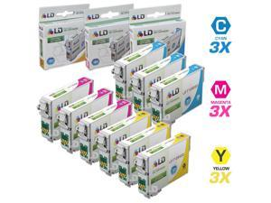 LD © Epson Remanufactured T126 Set of 9 High Capacity Ink Cartridges: 3 Cyan (T1262), 3 Magenta (T1263), 3 Yellow (T1264)