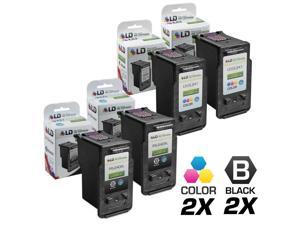 LD © Remanufactured for Canon PG-240XL / CL-241XL Set of 4 High Yield Ink Cartridges Includes: 2 5206B001 HY Black, & 2 5208B001 ...