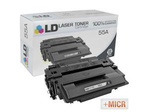 LD © (MICR Toner) Remanufactured Replacement Laser Toner Cartridge for Hewlett Packard CE255A (HP 55A) Black
