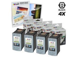 LD © Remanufactured Canon PG50 Set of 4 Black Inkjet Cartridges
